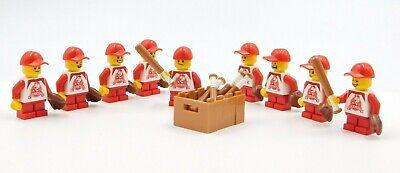 LEGO BASEBALL PLAYERS BATS RED HATS PLAYERS CHILD BOY CITY CHAMPS