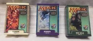 LOT-of-3-Magic-The-Gathering-MTG-7th-Edition-Empty-Starter-Deck-BOXES-ONLY