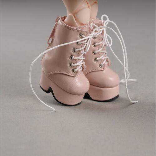 dollmore Rosa 1//6 Bjd Yosd USD Querida Boneca Tamanho Botas plataforma-Básica