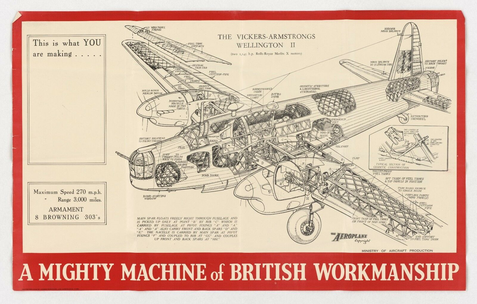 WW2 RAF WELLINGTON 2 POSTER PRINT