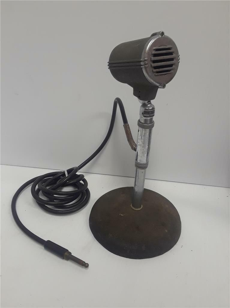 Vintage Astatic HZ50 Microphone with Stand