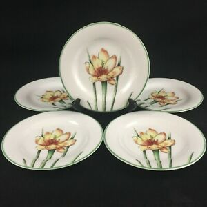 """Set of 5 VTG Bread Plates 6 1/4"""" by St. Andrews Doulton Co. Abstract Floral"""