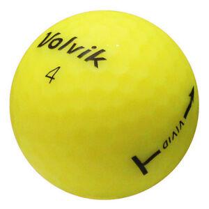12-Volvik-Vivid-Matte-Yellow-Used-Golf-Balls-AAA-SALE