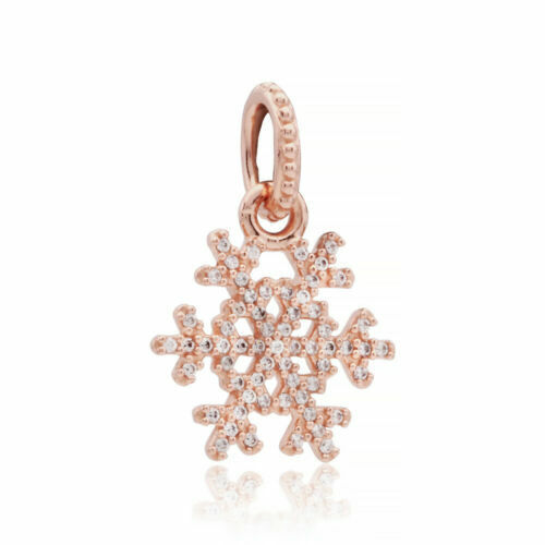 8e195fc089c69 PANDORA Rose Gold Holiday 2017 Sparkling Snowflake Pendant Charm 380354CZ  for sale online | eBay