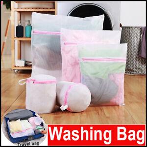 2X-Mesh-Laundry-Bags-Zipper-Wash-Bag-Reusable-Washing-Bag-For-Bra-Lingerie-Socks