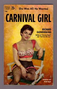 Carnival-Girl-Richard-Glendinning-vintage-1956-Popular-718-GGA-sleaze-VG-cond