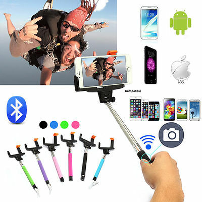 Extendable Handheld Stick Monopod Bluetooth Shutter Selfie For iPhone Samsung LG