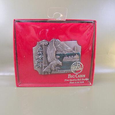 Washington Peltro Smaltato Fibbia Della Cintura Da Big Cabina. Made In Usa. Nuovo E Sigillato-mostra Il Titolo Originale