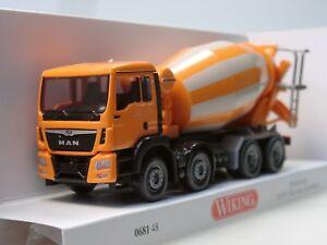 Wiking 068148 Fahrmischer MAN TGS Euro 6  Liebherr orange   1:87  H0 NEU in OVP