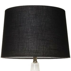 details about threshold drum lamp shade black forest large. Black Bedroom Furniture Sets. Home Design Ideas