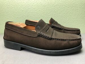 f49f8ff36890a Tod's Chocolate Brown Suede Leather Loafer / Driving Shoes Made in ...