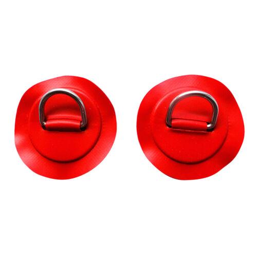 2pcs Red Kayak D Ring Pad Patch PVC Schlauchboot Beiboot Floß Zubehör