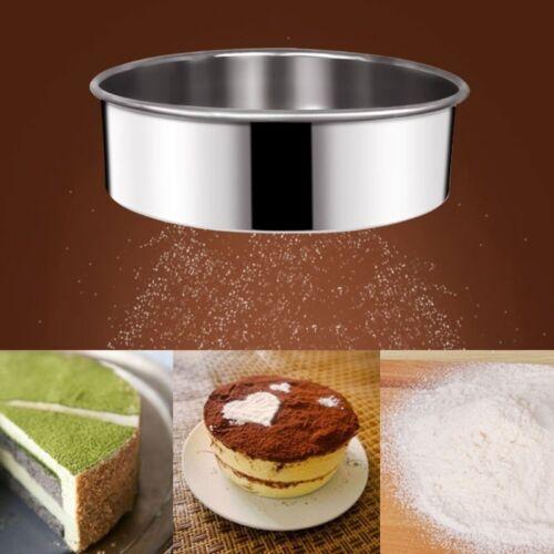 Treillis en acier inoxydable farine Tamisage tamis tamis passoire gâteau cuisson cuisine nouveau