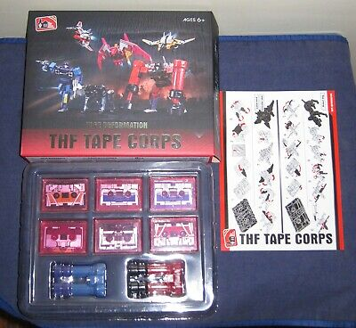 THF-01P 6 Six Tape Cassette Soundwave MP13 Transformers Action Figure In Stock