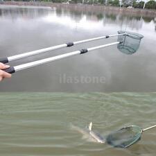 New 2in1 Folding Handle Fishing Landing Net Extending Pole Aluminum Handle Z3L5
