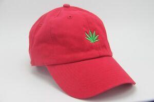Weed Leaf Dad Hat Marijuana Plant Cap Cannabis Rasta Unstructured ... 6b1273384b8e
