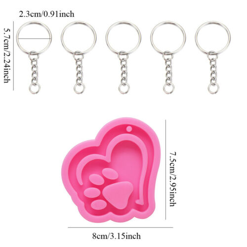 Making Shiny Clay Mold Silicone Mould Keychain Molds Candy Chocolate Mold