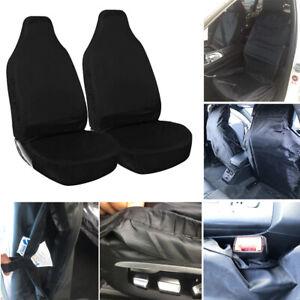 SKODA RAPID 2012 ON Heavy Duty Black Waterproof Car Seat Covers Front Pair
