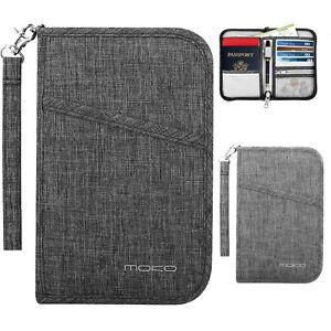 MoKo-Travel-Wallet-Passport-Holder-Cover-RFID-Blocking-Document-Organizer-Case