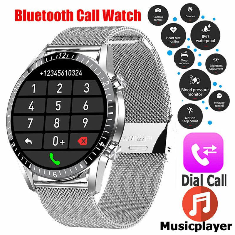 Touch Smart Watch ECG Blood Pressure Oxygen Heart Rate Monitor Sports Waterproof blood ecg heart monitor oxygen pressure rate smart touch watch