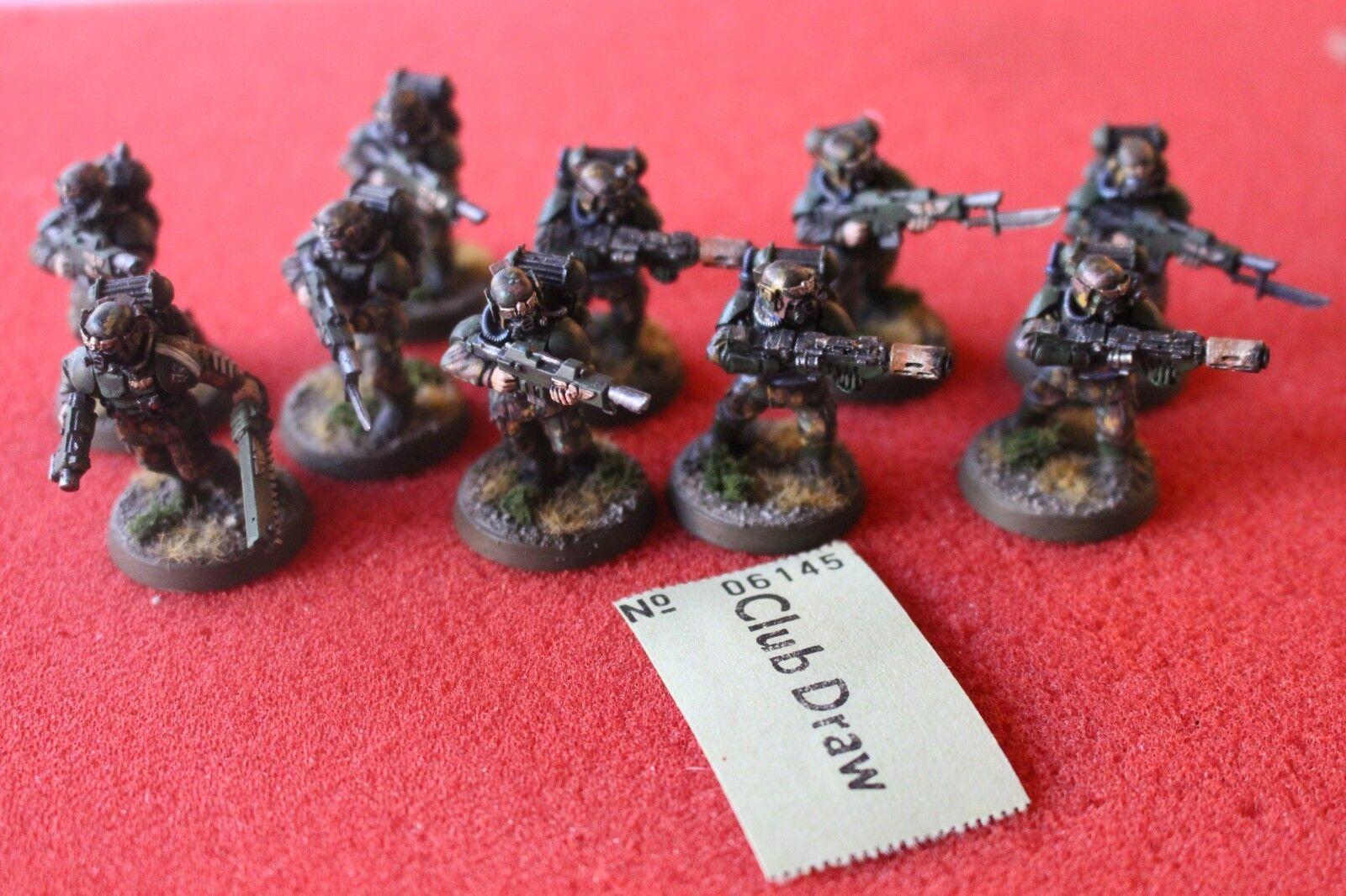 Games Workshop Warhammer 40k Forgeworld Cadian Infantry Squad with Respirators