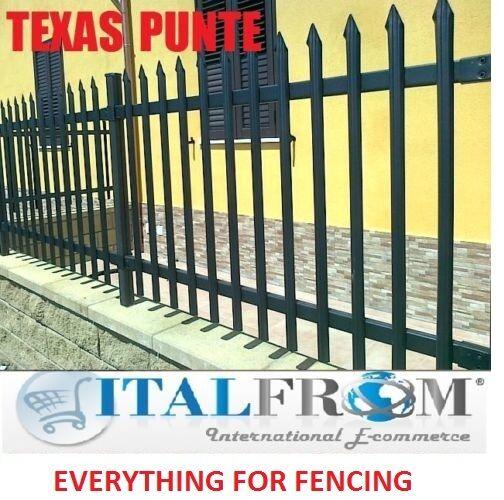 Valla Panel estándar Texas Spike Barandilla Galvanizado De Hierro Forjado