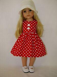 Fuer-Goetz-Puppe-Hannah-Stehpuppe-46-50-cm-Puppenkleidung-Kleidung-Kleid-u-Hut
