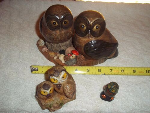 3 PIECE Vintage OWL COLLECTION