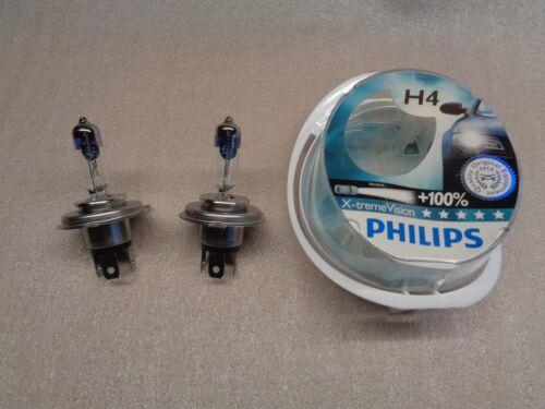 NEW GENUINE PHILIPS H4 100/% BRIGHTER LIGHT X-TREME VISION 12V 60//55W PAIR