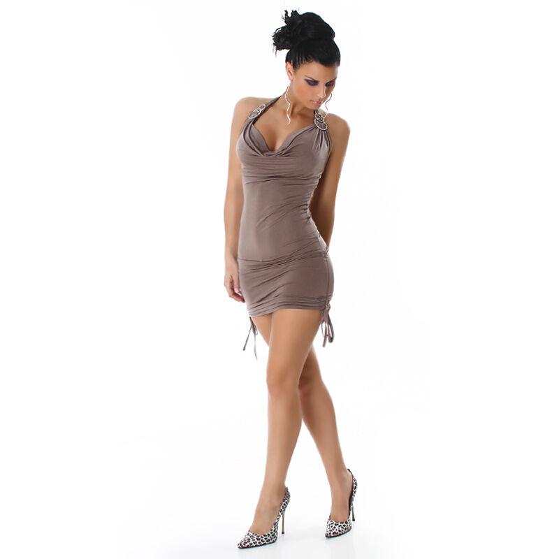 93f7495945bb SEXY abito abito abito vestito STRASS cappuccino taglia S (40) M (42)  fashion GLAMOUR 493685