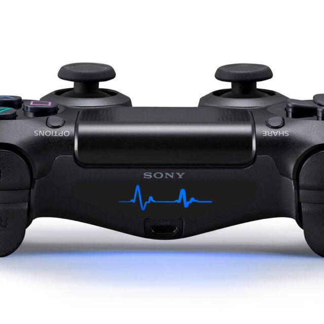 2x PS4 Controller Sticker Licht Lightbar Aufkleber Puls Herzschlag Frequenz cool
