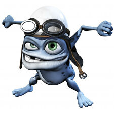 Crazy Frog decal adhesive transparent sticker for bike, cycle, scooter