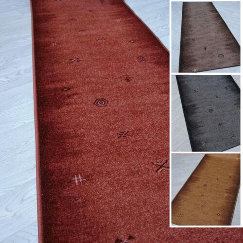 """Velours Teppich Bettumrandung /""""GABBEH/"""" 3 teilig rutschfest 67 cm breit"""