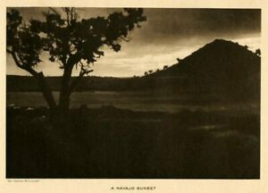 THE-VANISHING-RACE-A-SOUTHWEST-SUNSET-GENUINE-PHOTOGRAVURE-83