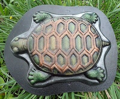 """GOSTATUE MOLD turtle stepping stone  plastic mold 13/"""" x 1.5 /"""" deep"""