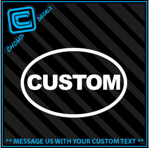 personalize Euro Funny car vinyl decals stickers Qty2 Oval CUSTOM
