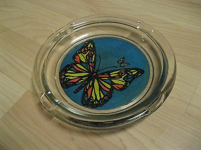 """Butterfly Ashtray - Large 8"""" Vintage 1960s Flower Power Groovy Hippie Cigarette"""