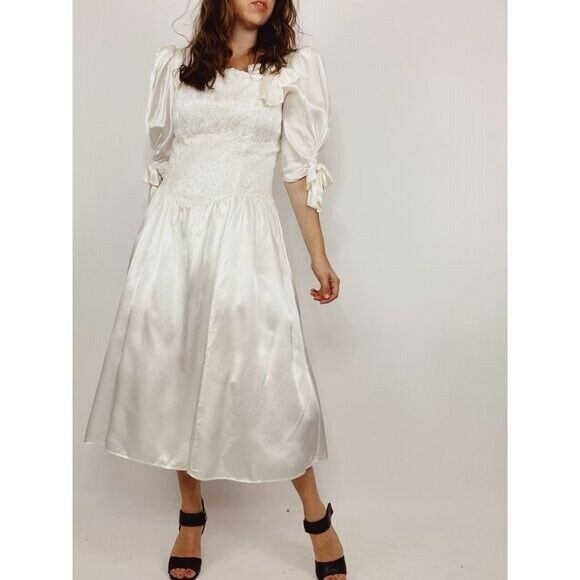 GUNNE SAX Jessica McClintock Size M Vintage White… - image 11
