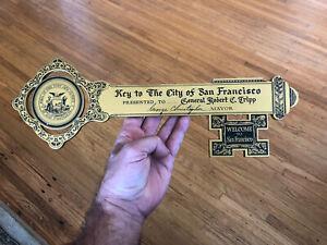 Vintage-1950s-Key-to-the-city-of-San-Francisco-General-Robert-C-Tripp-WW2