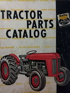Details about Napa 1958 Farm Tractor Parts Manual Catalog Case Ford on