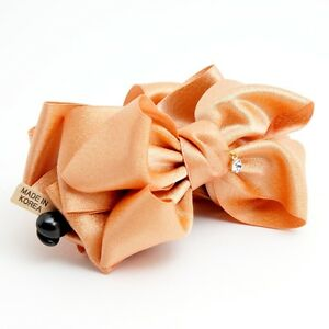 Handmade-Glossy-Bow-Banana-Hair-Clip-Luxury-Golden-Glittering-Hair-Clamp