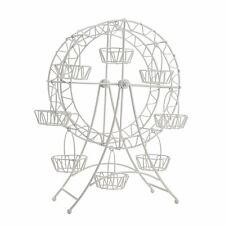 Ferris Wheel Cupcake Holder - White Metal Decorative Wedding Cake Stand Tower