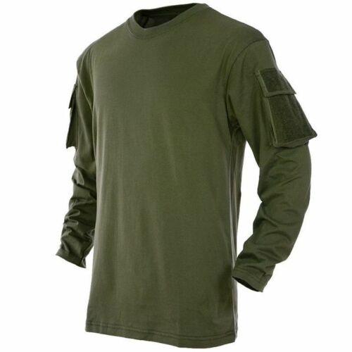 MFH Longsleeve US T-Shirt Langarm mit 2 Ärmeltaschen 100/% Baumwolle Oliv