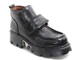 507 Chaussures Homme Bottes Réacteur Plateforme 90er Gothique New Rock % Métal