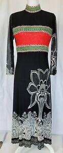 Vintage-Indigo-Collection-Black-Red-Mesh-Maxi-Dress-Large