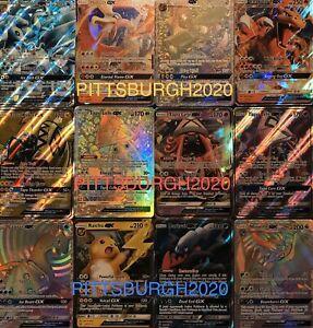 Pokemon-Tarjeta-Lote-de-100-Tarjetas-de-TCG-oficial-Ultra-Raro-incluido-GX-ex-Mega-o-v