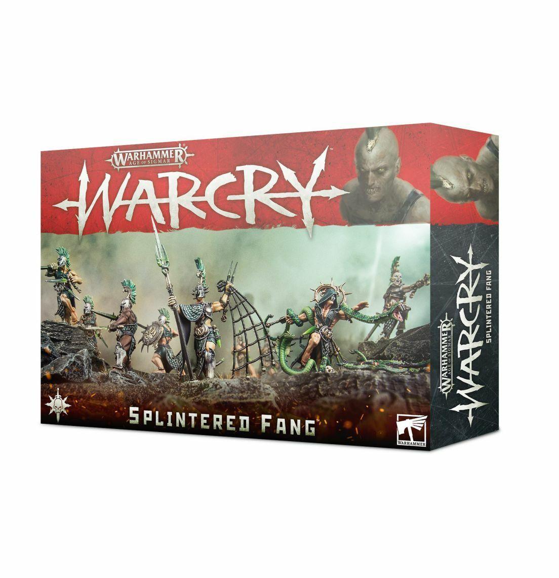 Warhammer Edad Of Sigmar  Warcry The Splinterouge Fang Games Workshop Kriegerschar  être en grande demande