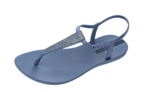 Ipanema Pop Glitter Sandal 21 Womens T-Bar Strap Blue Beach Shoes Vegan Friendly