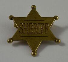 Gold Six Point Sheriff Badge - Ranger/Police/Cowboy Wild West Western US LAW