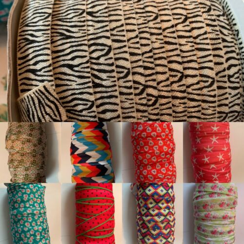 Foe elastico Hairband 10 METRI 15mm FOLDOVER FASCIA ELASTICA PER FASCE KID + LOTTO